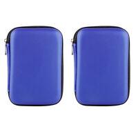 2x USB HDD Esterno Disco Rigido Disco Rigido Custodia Borsa Custodia Per Il