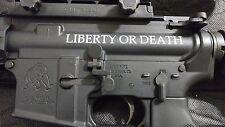 2 - AR15 Upper Decal | Liberty or Death AR-15 Sticker 2 Pack