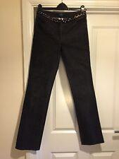 NAF NAF bleu foncé jean de coupe droite avec clous