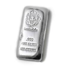 Lingot 100 Grammes Argent Pur 999 / Scottsdale 100 Gram Fine Silver 999 Cast Bar