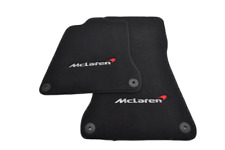 Floor Mats For McLaren 650S Black Tailored Carpets Set With McLaren Emblem LHD