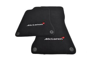 Floor Mats For McLaren 650S Black Tailored Carpets Set With McLaren Emblem LHD