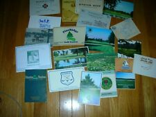 New listing 20 GOLF SCORE CARDS NEW / USED