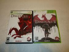 Dragon Age Origins & Dragon Age 2 for Xbox 360 / Vg Cond & Complete