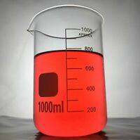 1pc 1000ml Borosilicate Glass Graduated Laboratory Beakers Low Form