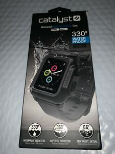 Catalyst - Protective Waterproof Case for Apple Watch™ 42mm - Gray / Black