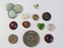 Vintage Button Button Rare Unique Anchor MOP 15 pcs Heart Star Shank