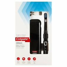 Colgate Pro Clinical Pocket Pro Rechargeable Black Electric Toothbrush Timer New