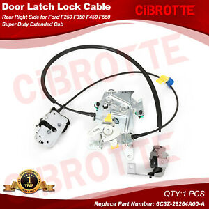 Rear Right Door Latch Lock Cable for Ford Super Duty Extended Cab 6C3Z28264A00A