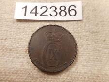 1889 Denmark 2 Ore - Collector Grade Album Coin - # 142386 Rim Issues