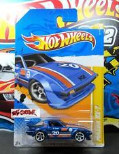 Hot Wheels 2012 #31 Mazda RX-7 BLUE,2ND COLOR,WHITE MC5,CHROME BASE,US CARD,NICE