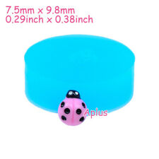 DEB012 9.8mm Ladybird Silicone Mold Insect Mold Sugarcraft Resin Polymer Clay