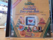 Crayola Dazzling Decorations CD-ROM PC Computer Win Mac Holiday Activity IBM kid