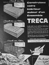 PUBLICITÉ 1957 TRÉCA L'ENSEMBLE TRECA RITZ SUPER PULLMAN - ADVERTISING