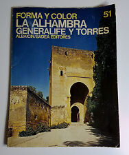 Vintage Book La Alhambra Generalife Y Torres Palace Granada Spain Spanish 1969