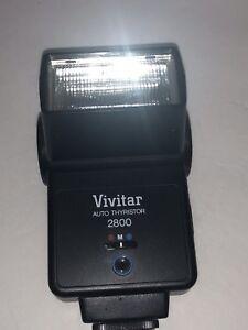 Vintage Vivitar 2800 Camera Electronic Flash With Original Instructions Box