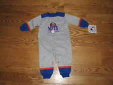 NWT NY New York METS Baby Coverall Sleeper Romper Fleece Size 18M 18 Mo Boys