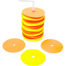 """6"""" Non-Skid Floor Spot Markers: Set of 50 Agility Field Cones with Carry Stand"""