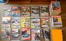 Auto-Motorrad Zeitschriften-Sammlung 70-80-90 Jahre AMS mit Tests und Vergleiche