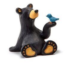 Jeff Fleming Bearfoots Minnie Bear with Blue Bird Miniature Figurine Big Sky New
