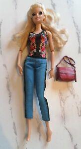 Mattel Barbie Style Faux Glam Doll 2014 Rooted Eyelashes