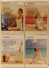 4 New Element workout Dvd lot Am Pm yoga for stress relief flexibility pilates