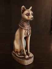 ÄGYPTEN ÄGYPTISCHE WACHE AUFSTELLFIGUR KATZE GÖTTIN FIGUR STATUE SKULPTUR GRAU