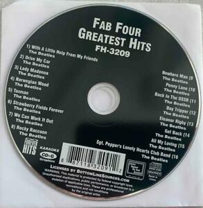 FAB FOUR BEATLES KARAOKE CDG HITS FH-3209 FOREVER HITS MUSIC SONGS CD CD+G