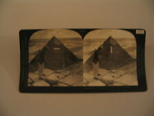 Egypt Golf Cheops Pyramid Eye Training Keystone Stereoview Photo cdii
