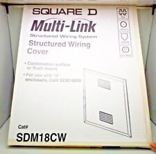 NEW BOX OF 4 SQUARE D SDM18CW STRUCTURED WIRING COVER