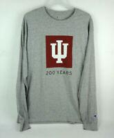 Champion NWT IU Indiana University 200 Years Long Sleeve Shirt Men's Large