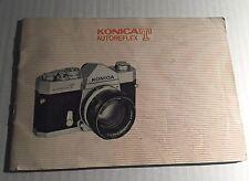 Vintage Konica T Autoreflex 35mm Film SLR Camera - User Instruction Manual