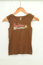 Gymboree Aloha Sunshine Size 9 Girls Shirt Tank Top Brown Embroidery Crystals