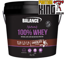 BALANCE 100% WHEY NATURAL 2.8KG CHOCOLATE PROTEIN POWDER WPI WPC BODY SCIENCE