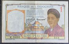 French Indochina One Piastre 1939 vf+