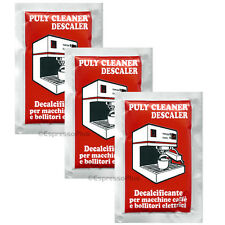 Puly / Puly Caff Cleaner Descaler Espresso Machine Cleaner 3 - 30 Gram Packets