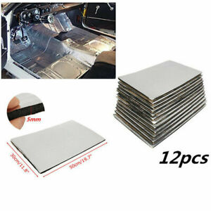 12 Sheets 5mm Firewall Sound Deadener Heat Insulation Deadening Material Mat Pad