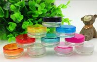 5pcs Cosmetic Empty Jar Pot Small Container Sample Cream Lip Balm Gel DIY 5g New