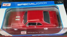 Maisto 1:18 Scale Diecast Model Car - 1970 Chevrolet Nova SS Coupe (Red)