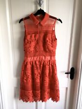 Ladies Crotchet Lace Cut Out Dress By Danity Uk 6 (Good Condition)