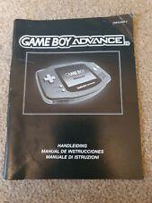 Nintendo Gameboy Advanced Console Instruction Manual