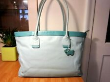 RADLEY LEATHER HANDBAG LAPTOP BAG IN MINT BLUE