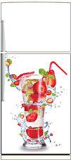 Aufkleber Kühlschrank Haushaltsgeräte Dekor Küche Cocktail Erdbeere 60x90cm ref