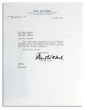 WWII General Mark Clark Signed Letter Citadel Signature