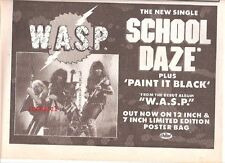WASP School Daze 1984  UK Poster size Press ADVERT 12x8 inches