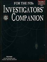 INVESTIGATORS' COMPANION EXC+! 1920's Chaosium Call of Cthulhu COT HP Lovecraft