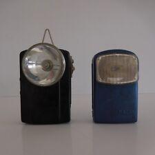 2 lampes de poche pile électrique éclairage vintage MAZDA made in France