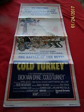 """RARE COLD TURKEY Orig. 1970 (14""""wx36""""h) Movie Poster UA Pictures DICK VAN DYKE"""