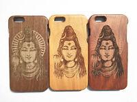 Lord Shiva India Dios Madera Sólido Funda de madera para Apple iPhone 5 5s 6 6s