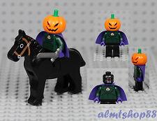 LEGO - Headless Horseman Minifigure - Jack O' Lantern Pumpkin Head Halloween